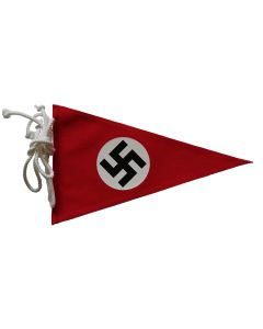 GERMAN WWII NSDAP (NAZI PARTY) CAR PENNANT