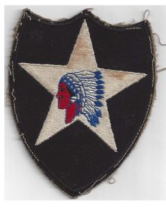 AMERICAN WWII 2nd INFANTRY DIVISION BADGE – ORIGINAL