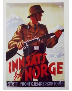 INNSATS FOR NORGE METAL SIGN