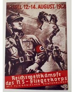 KASSEL 12.-14. AUGUST 1938 REICHSWETTKAMPFE DES NS-FLIEGERKORPS METAL SIGN