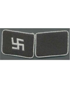 SS LATVIA FOREIGN VOLUNTEER UNIT OFFICER COLLAR TABS