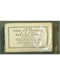 WW11 AMERICAN FIRST AID DRESSING CARLISLE MODEL