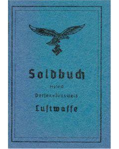 LUFTWAFFE SOLDBUCH BLANK NAVY BLUE