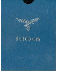 LUFTWAFFE SOLDBUCH COVER NAVY BLUE