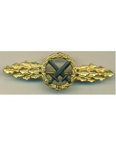 wwii GERMAN AIR TO GROUND SUPPORT CLASP - Gold