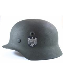 GERMAN WW2 M40 HEER SINGLE DECAL HELMET