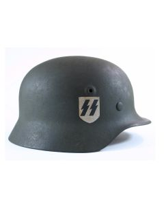 GERMAN WW2 M40 SS SINGLE DECAL HELMET