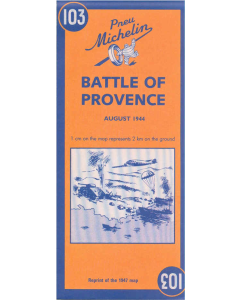 MAP BATTLE OF PROVENCE August 1944