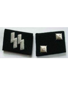 SS-OBERSCHARFUHRER  (Technical Sargeant) ENLISTED MAN COLLAR TABS