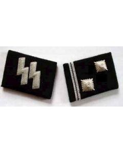 SS-HAUPTSCHARFUHRER  (Sargeant Major) ENLISTED MAN COLLAR TABS