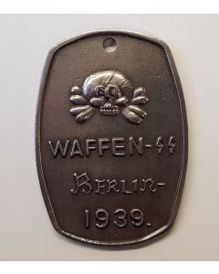GERMAN WAFFEN SS BERLIN 1939 IDENTIFICATION TAG