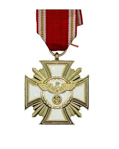 NSDAP GOLD LONG SERVICE AWARD 25 YEARS WITH RIBBON