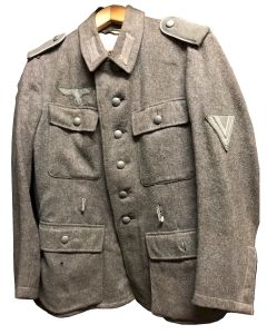 WW2 GERMAN HBT REED GREEN DRILL JACKET ORIGINAL