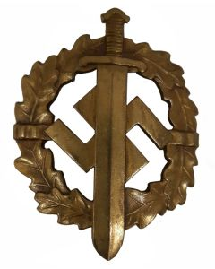 GERMAN WWII GRADE SA SPORTS BADGE - GOLD
