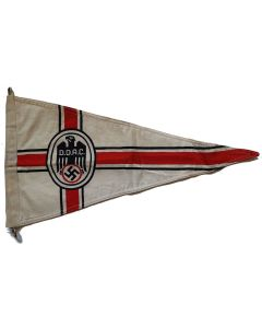 GERMAN WW2IID.D.A.C. DOUBLE SIDED CAR PENNANT ORIGINAL