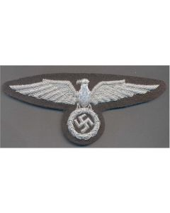 GERMAN SS OFFICER SLEEVE EAGLE  FIRST PATTERN BULLION
