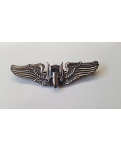 WW2 US AERIAL GUNNER WING STERLING BADGE