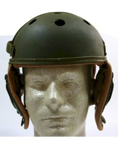 ORIGINAL AMERICAN WW2 M38 LEATHER TANKER HELMET by Rawlings Size 7 3/8