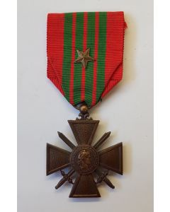 FRANCE WW2 WAR CROSS CROIX DE GUERRE 1939-1940 STAR