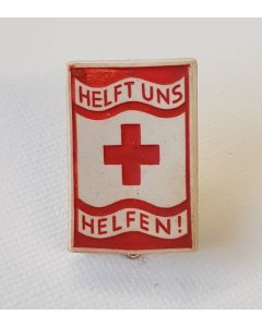 "GERMAN WW2 RED CROSS ""HELFT UNS HELFEN"" PIN"