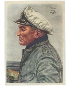 POTRAIT OF KAPITANLEUTNANT PRIEN POSTCARD