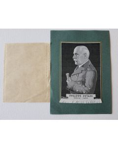 ORIGINAL VICHY PROPAGANDA OF A MARECHAL PETAIN SILK PORTRAIT