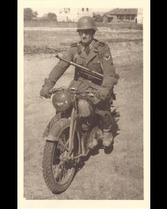 WW2 GERMAN SS OFFICER FULL BODY POSTCARD