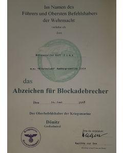 GERMAN NAVY BLOCKADEBRECHER MOTORENHELFER KURT FINK M.S. MUNSTERLAND HAMBURG AMERIKA LINIE