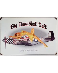 P51 PINUP METAL SIGN