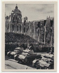 PARADE DER TANKS WIEN, AM 15. MARZ 1938 CIGARETTE CARD