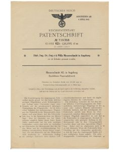 PATENTS PARTS FOR THE GERMAN AIR PLANES