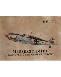 gERMAN UNSERE WAFFEN SS POSTCARD - MESSERSCHMITT KAMPFER UBER GROBBRITISCH
