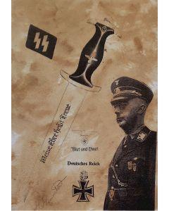 ww2 UNSERE WAFFEN SS POSTCARD - HEINRICH HIMMLER