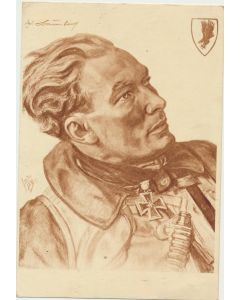 POTRAIT OF MAJOR WERNER BAUMBACH POSTCARD