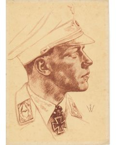 POTRAIT OF MAJOR WICK POSTCARD