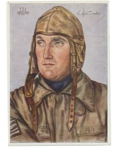POTRAIT OF OBERSTLEUTNANT SCHUMACHER POSTCARD