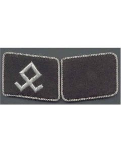 SS PRINZE EUGEN FOREIGN VOLUNTEER UNIT  OFFICER COLLAR TABS