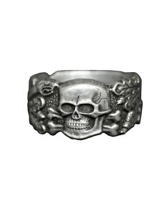 GERMAN OFFICERS ANTI-PARTISIAN RING WITH SNAKES AND OAKS LEAVES