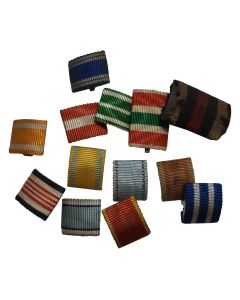 LOT OF ORIGINAL RIBBON BARS FROM WWI AND WWII