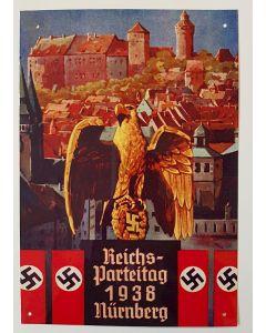 REICHSPARTEITAG 1938 NURNBERG METAL SIGN