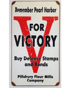 REMEMBER PEARL HARBOR METAL SIGN