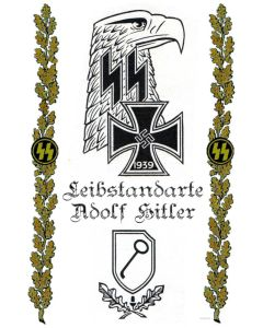 LEIBSTANDARTE ADOLF HITLER VINTAGE METAL SIGN