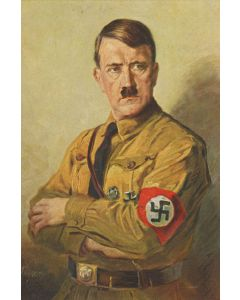 ADOLF HITLER PORTRAIT VINTAGE METAL SIGN