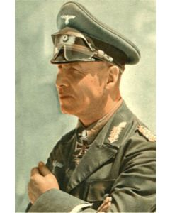 FIELD MARSHAL ERWIN ROMMEL VINTAGE METAL SIGN