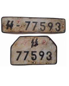 GERMAN WW2 SS TRUCK OR HALF TRACK LICENCE PLATE SET