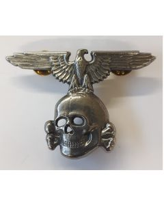 SS EAGLE & SKULL SILVER CLUTCH BACK
