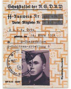 SS NSDAP AUSWEIS BART, OTTO