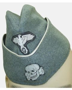 GERMAN SS OFFICER M40 SIDE CAP EARLY FELDGRAU