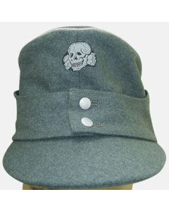 GERMAN SS OFFICER M43 CAP EARLY FELDGRAU