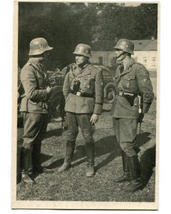 "SS POST CARD POLICE IN POLAND""A SECURITY POLICE GROUP BEFORE AN ACTION"""